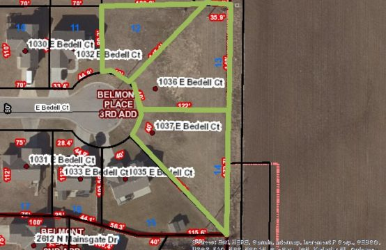 3 Prime Building Lots Selling at Online Auction Belmont Place 3rd Addition